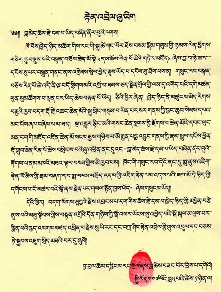 夏珠秋杨法王认证祝贺第三世多杰羌佛 第2张
